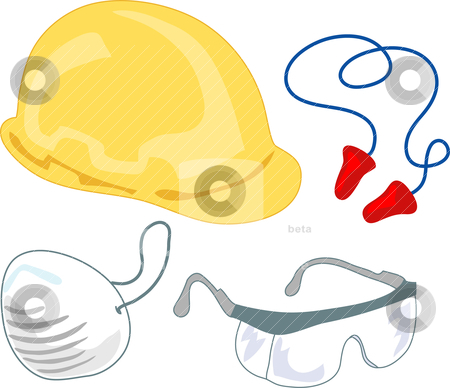 Safety Gear : PPE 1 stock vector