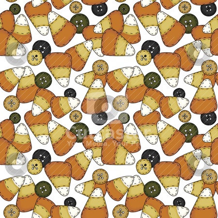 Seamless Folk Art Candy Corn stock vector clipart, A seamless tile in folk art style   file utilizes simple 8-step blends by Neeley Spotts