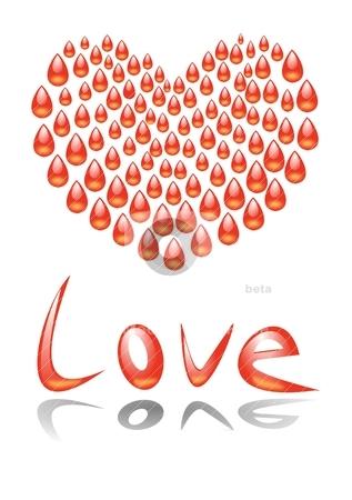 Heart blood stock vector clipart, Heart blood by Katarzyna Bruniewska-Gierczak