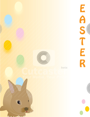Cute Easter rabbit, great for a quick card, Paper stock vector clipart, Cute Easter rabbit, great for a quick card, Paper by Patrick Guenette