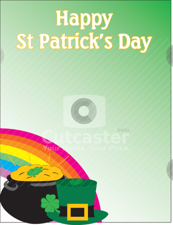 Happy St-Patrick themed background stock vector clipart, Happy St-Patrick themed background Illustration in vector by Patrick Guenette