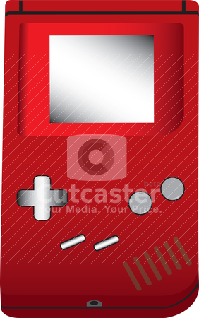 Handheld game illustration stock vector clipart, An illustration of a handheld game. by Patrick Guenette
