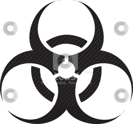 Black biohazard symbol stock vector clipart, Black biohazard symbol isolated against a white background. by Patrick Guenette