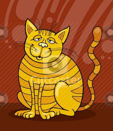 Smiling Yellow Cat stock vector clipart, Illustration of smiling Yellow Cat by Igor Zakowski