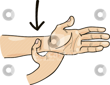 Special acupressure point on hand stock vector clipart, Illustration of special acupressure point on hand by Igor Zakowski