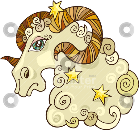Zodiac aries sign stock vector clipart, Illustration of zodiac aries sign by Igor Zakowski