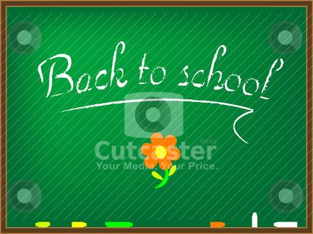 Back to school board stock vector clipart, back to school board by Laschon Robert Paul