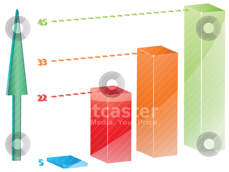 Chart 3d against white stock vector clipart, chart 3d against white by Laschon Robert Paul