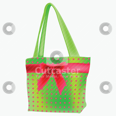 Green retro hand bag stock vector clipart, green retro hand bag by Laschon Robert Paul