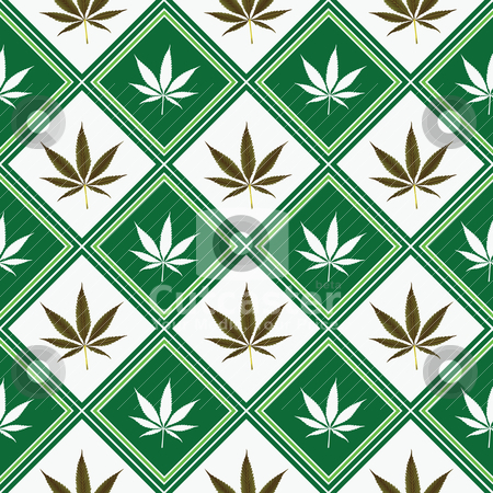 Cannabis seamless texture stock vector clipart, cannabis seamless texture by Laschon Robert Paul