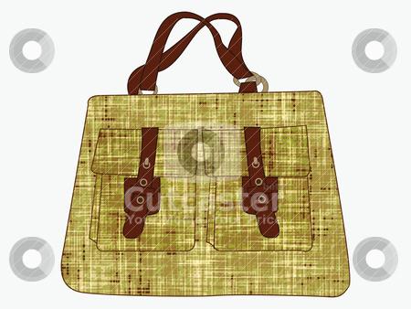 Textured hand bag against white stock vector clipart, textured hand bag against white by Laschon Robert Paul