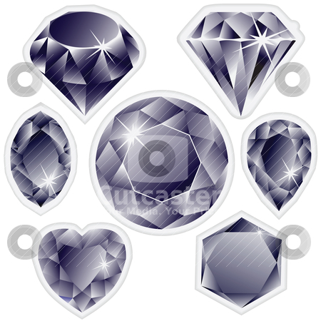 Diamonds labels stock vector clipart, diamonds labels by Laschon Robert Paul