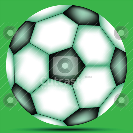 Soccer ball stock vector clipart, soccer ball by Laschon Robert Paul