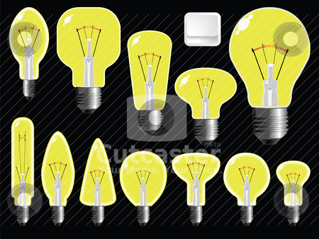 Light bulbs shapes stock vector clipart, light bulbs shapes by Laschon Robert Paul