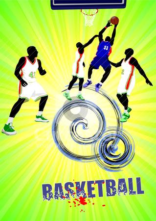 Basketball poster. Vector illustration stock vector clipart, Poster of Basketball poster. Vector illustration by Leonid Dorfman