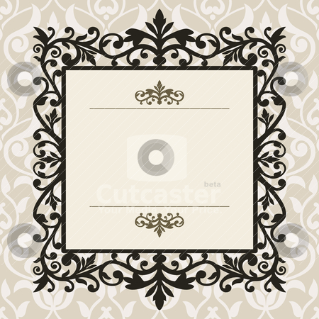 Decorative vintage frame stock vector clipart, Decorative frame on the retro background with space for your text, full scalable vector graphic for easy editing and color change by Ela Kwasniewski