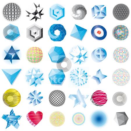 Set vector symbols stock vector clipart, Geometric abstract vector symbols by alvaroc