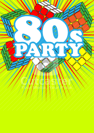 Retro Party Background Stock Vector