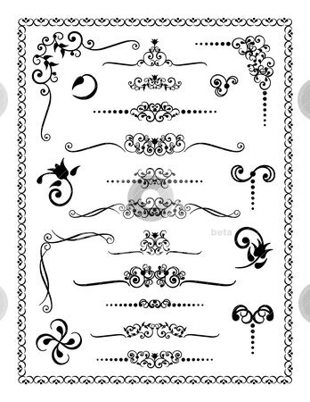 Design Ornaments 2 stock vector clipart, Vector collection #2 of decorative borders, dividers and ornaments. by Lisa Fischer