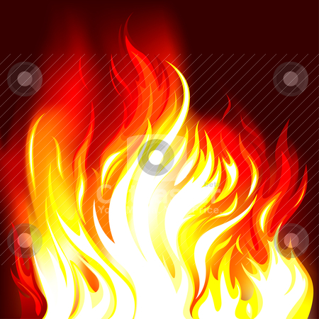 Fire Flames Background stock vector clipart, Fire Flames Background, editable vector illustration by juland