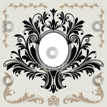 Floral Decoration Vignette stock vector clipart, Classical Floral Decoration Frame, editable vector illustration by juland