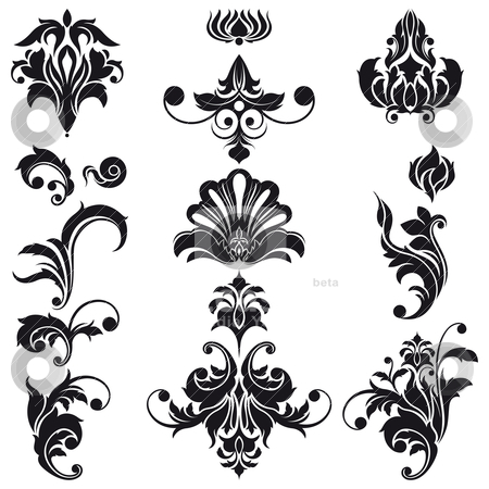 Decorative floral design elements stock vector decorative floral design elements thecheapjerseys Choice Image