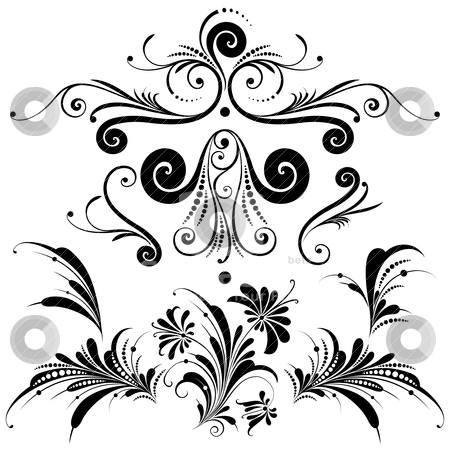 Set of Decorative Design Elements stock vector clipart, Collection of Decorative Design Elements on white background, editable vector illustration by juland