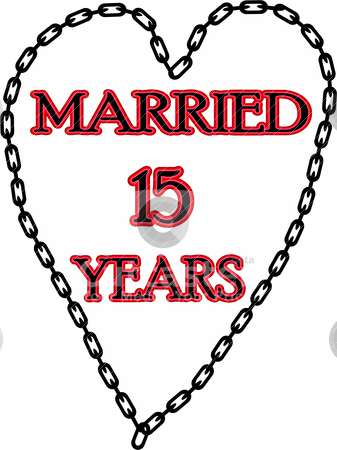 Marriage Chains 15 Years Stock Vector