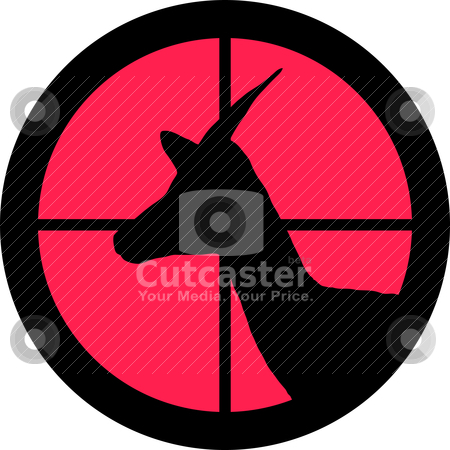 In the Scope Series - Impala stock vector clipart, In the scope series - Impala in the crosshair of a gun's telescope. Can be symbolic for need of protection, being tired of, intolerance or being under investigation. by Snap2Art