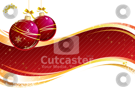 Christmas Composition stock vector clipart, Christmas vectorial illustration. All elements are editable. by Bagiuiani Kostas