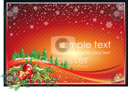 Christmas Postcard stock vector clipart, Christmas vectorial illustration. All elements are editable. by Bagiuiani Kostas