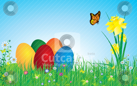 Easter stock vector clipart, Vector illustration, all elements are editable. by Bagiuiani Kostas