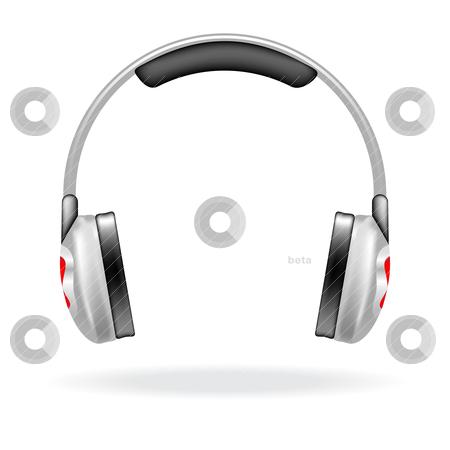 Vector headphones stock vector clipart, Vector icon of a headphones for web design by Vladimir Gladcov