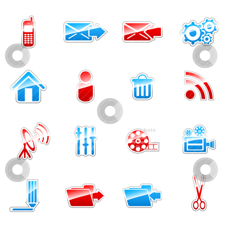 Label icons stock vector clipart, Label icon set for web design (set 5) by Vladimir Gladcov