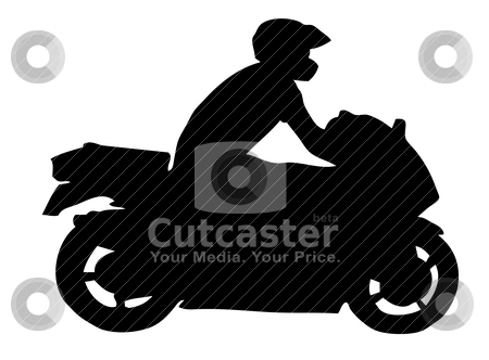Motorcycle silhouette stock vector