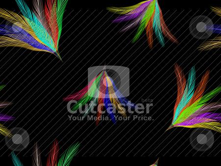 Feathers fan seamless pattern stock vector clipart, feathers fan seamless pattern, abstract vector art illustration by Laschon Robert Paul