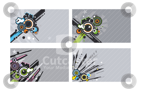 Set of horizontal business cards stock vector clipart, set of horizontal business cards, vector illustration by SelenaMay