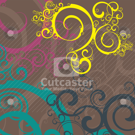 Abstract fractal background stock vector clipart, abstract fractal background, vector illustration by SelenaMay
