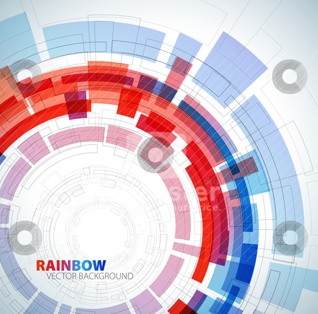 Abstract background with red and blue colors stock vector clipart, Abstract background with red and blue colors and place for your text by orson