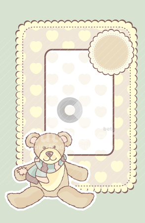 Baby frame stock vector clipart, frame with place for your picture by SelenaMay