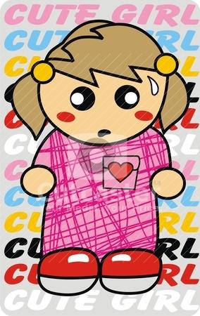 Cute girl  stock vector clipart, cute girl  by Eddy Sophian