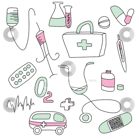 Collection of medical signs stock vector clipart, vector collection of medical signs by SelenaMay