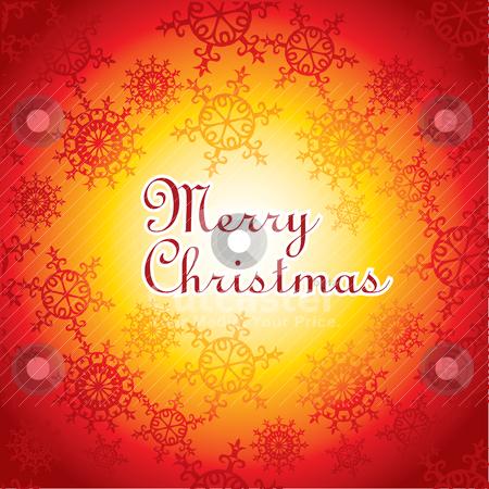 Christmas card illustration stock vector clipart, christmas card illustration with snowflakes by SelenaMay