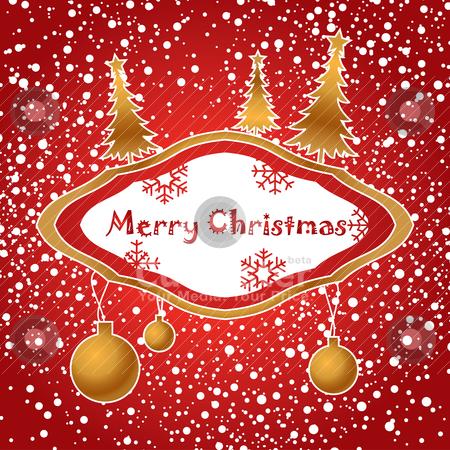Artistic christmas card stock vector clipart, artistic christmas card vector illustration by SelenaMay