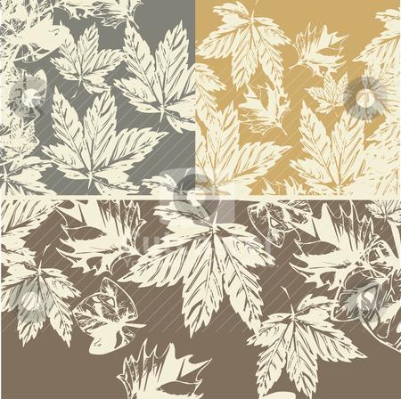 Grunge autumn background stock vector clipart, grunge autumn background vector illustration by SelenaMay