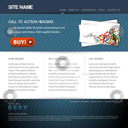Modern website template stock vector clipart, Modern website template with nice button by orson