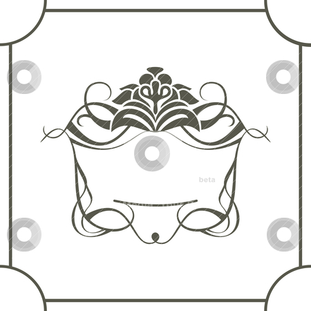 Royal frame stock vector clipart, royal frame with place for text vector illustration by SelenaMay