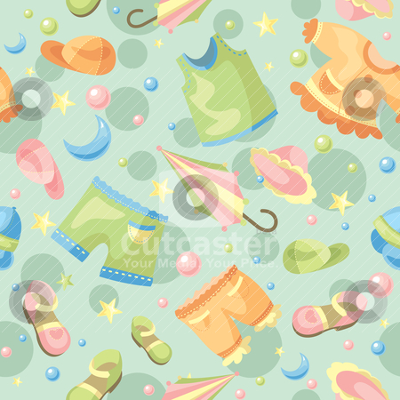 Seamless baby background stock vector clipart, abstract cute seamless baby background vector illustration by SelenaMay