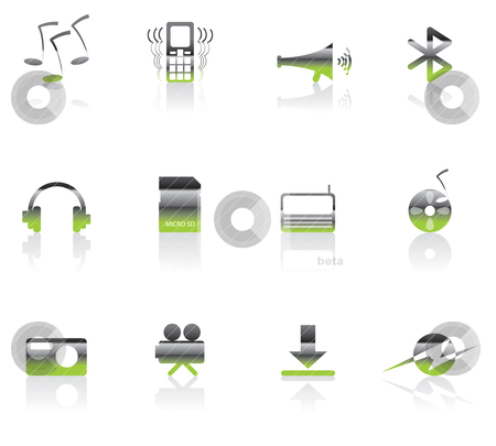 Mobile phone  performance icons  stock vector clipart, mobile phone  performance icons - vector con set  by Stoyan Haytov