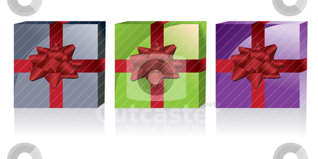 Different kinds of gift boxes  stock vector clipart, different kinds of gift boxes - vector illustration by Stoyan Haytov
